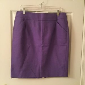The Pencil Skirt by J. Crew purple size 12